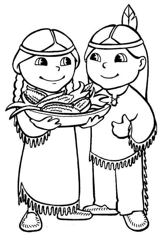 Native American Printable Coloring Pages  Native American Indian Coloring Pages