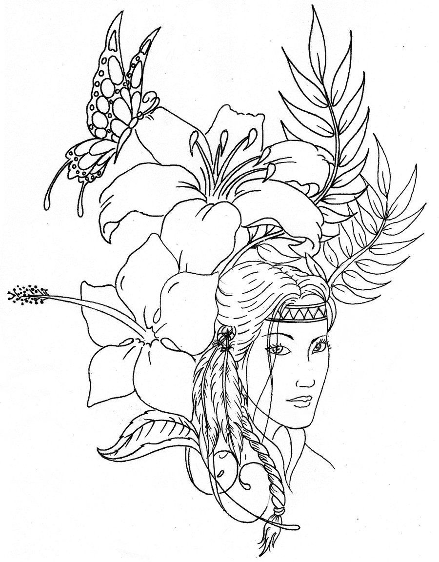 Native American Printable Coloring Pages  Native American Designs Coloring Pages Printables