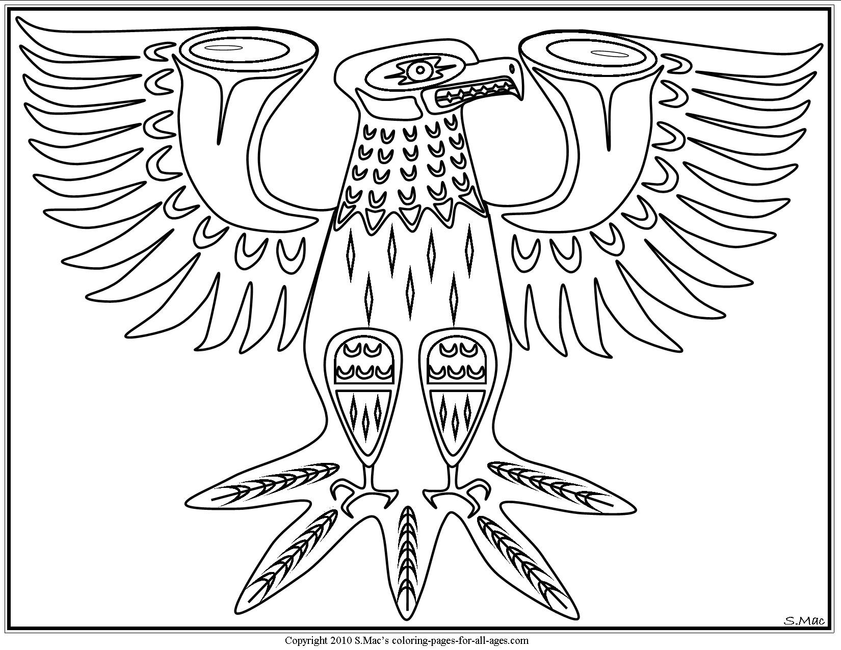 Native American Printable Coloring Pages  Native American Coloring Pages