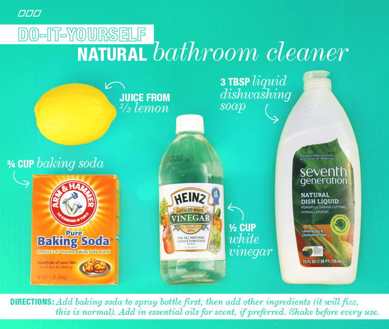 Best ideas about Natural Bathroom Cleaner . Save or Pin 6 All Natural Household DYI Cleaners Now.