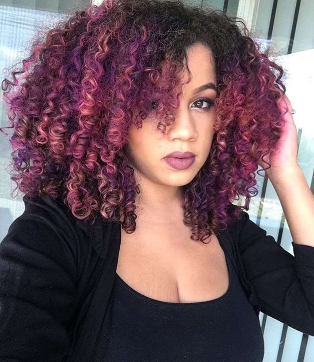 Natural Hairstyles With Color  Beautiful color wandaanicole Black Hair Information