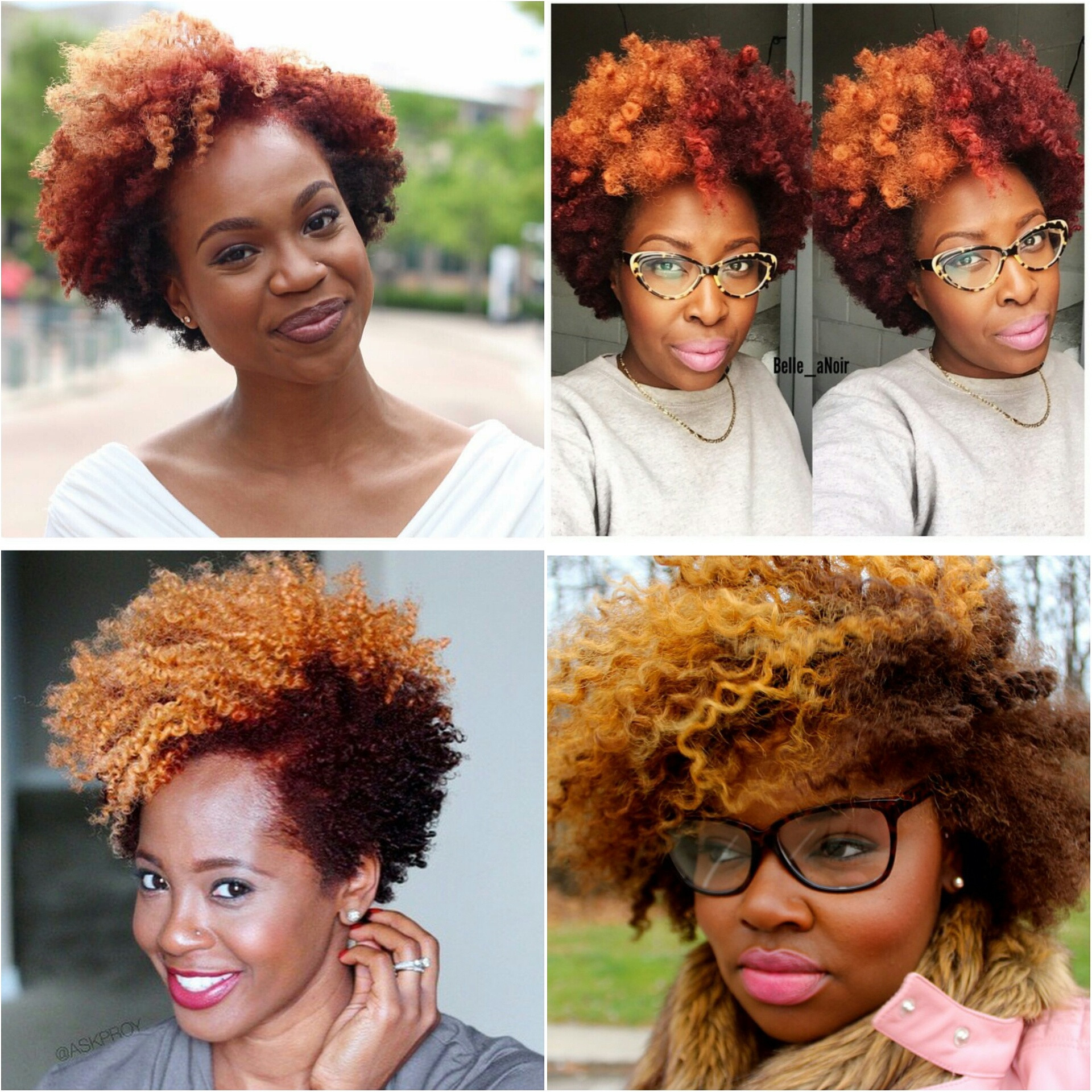 Natural Hairstyles With Color  Natural Hair Color Trend Blonde Red ToBNatural