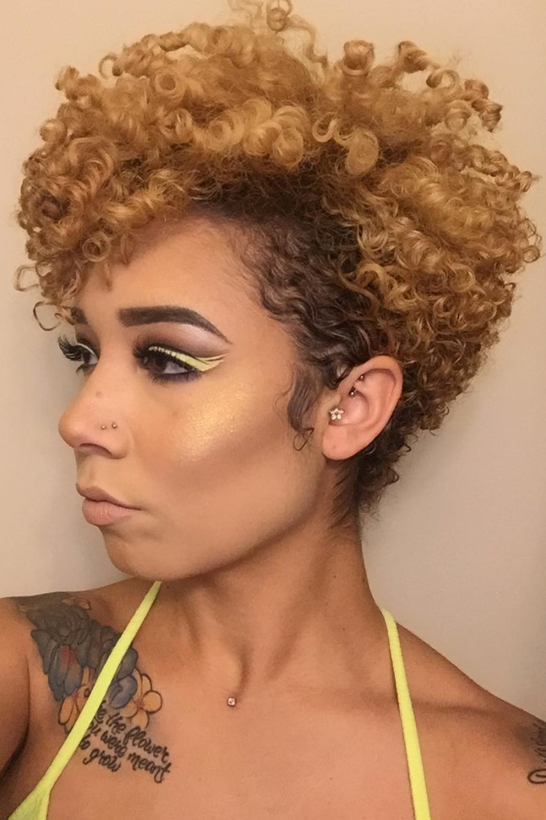 Natural Hairstyles With Color  Hairstyle Ideas For Short Natural Hair Essence