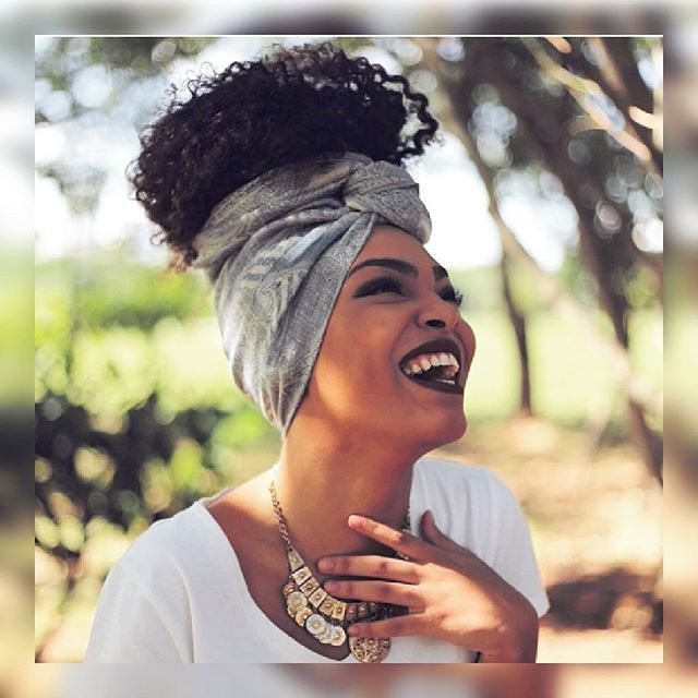 Natural Hairstyles With Scarves  Head Wraps and style Head Wraps and Style