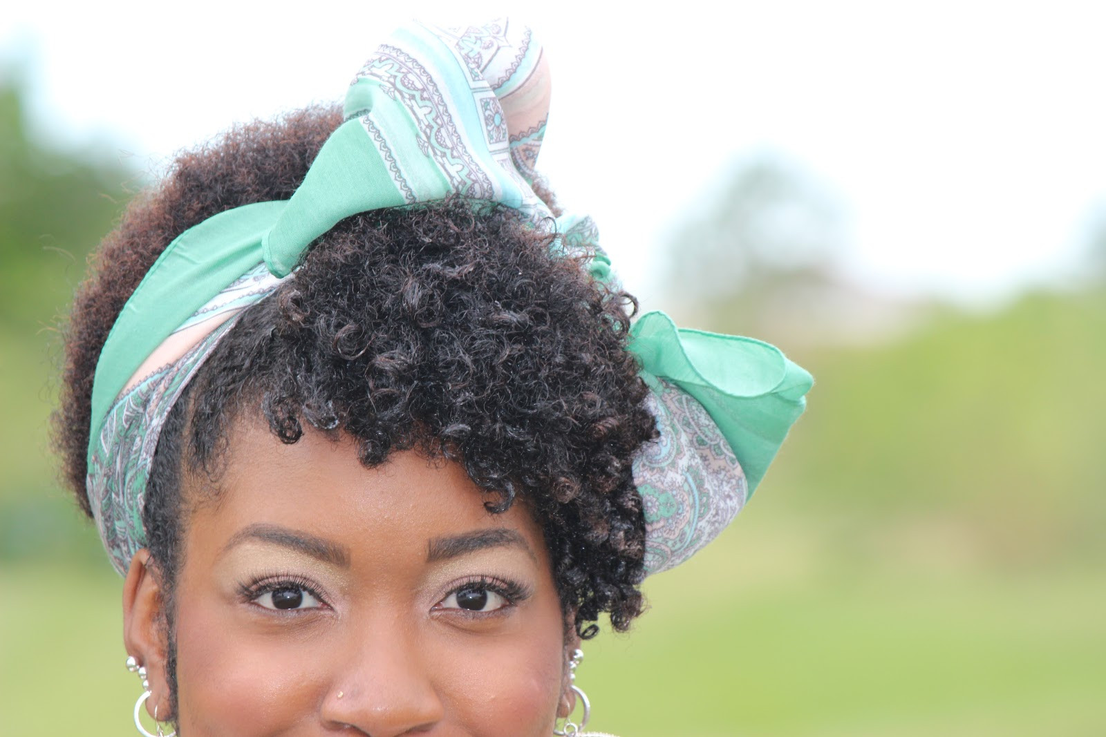 Natural Hairstyles With Scarves  Natural Hair Up Do w Scarf