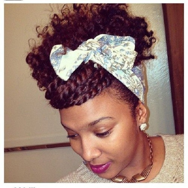 Natural Hairstyles With Scarves  Protective Natural Headband
