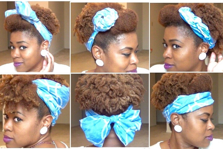 Natural Hairstyles With Scarves  Cute Scarf Updos for Natural Hair CurlyNikki