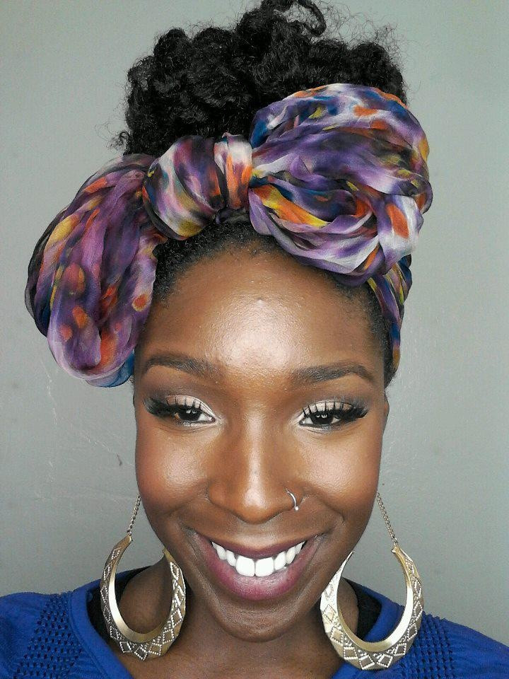 Natural Hairstyles With Scarves  17 Best images about Scarves turbons and hair ties on