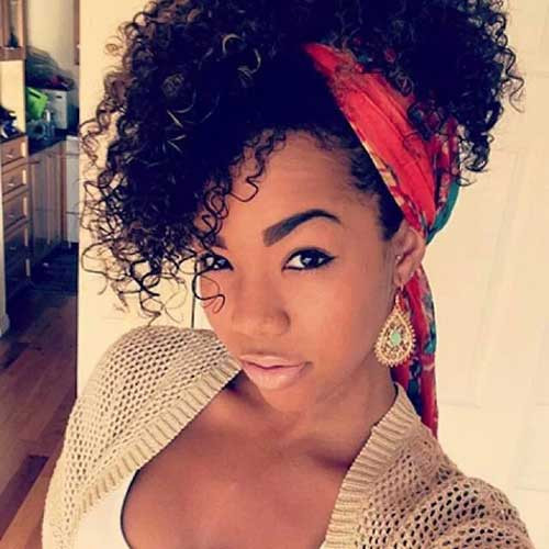Natural Hairstyles With Scarves  20 Best Black Girls with Long Natural Hair