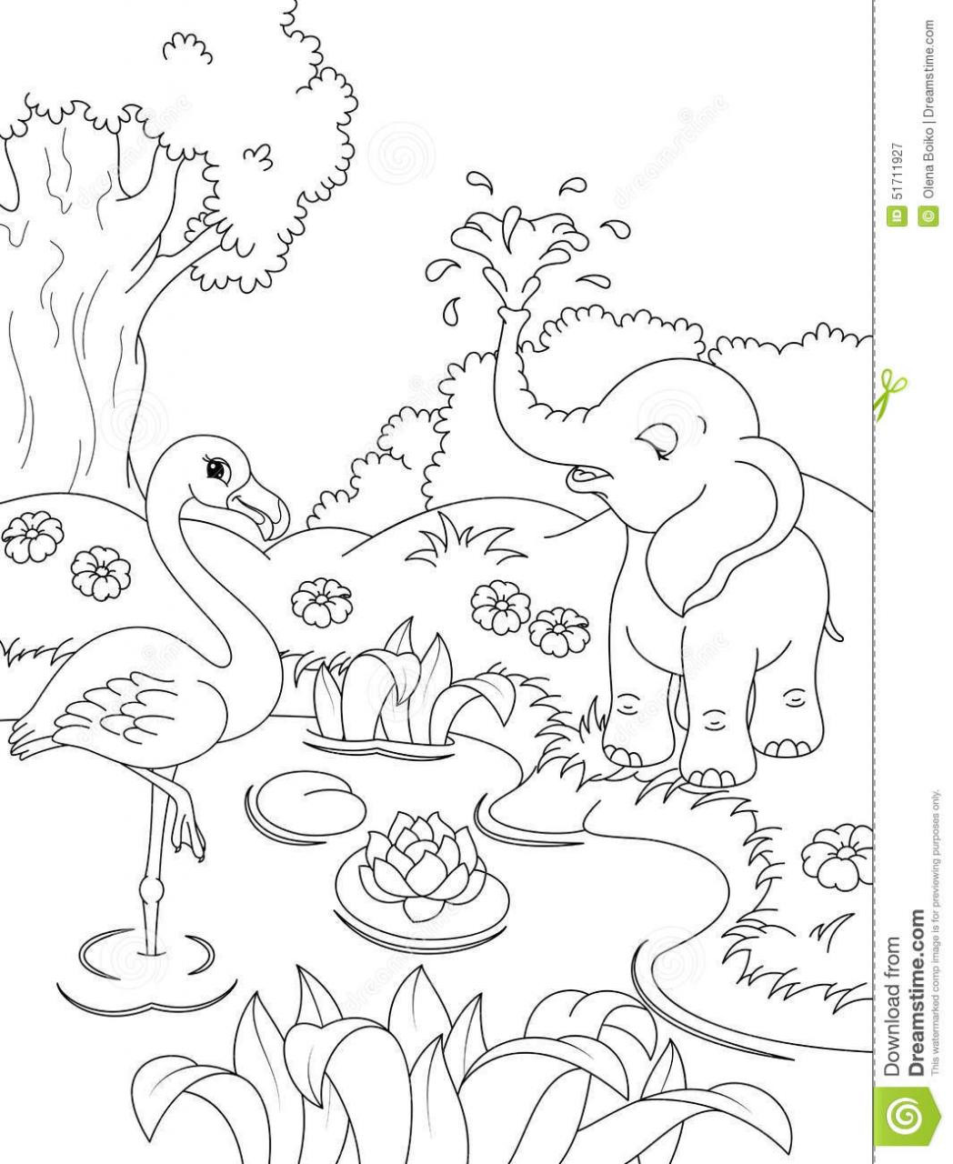Nature Coloring Pages For Kids  Nature Animal Coloring Pages Coloring Page For Kids