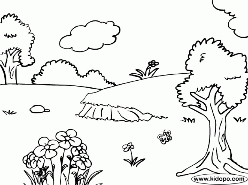 Nature Coloring Pages For Kids  Get This Free Printable Nature Coloring Pages for Kids 5gzkd