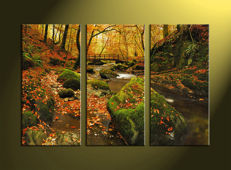 Best ideas about Nature Wall Art . Save or Pin 3 Piece Green Canvas Nature Wall Art Now.