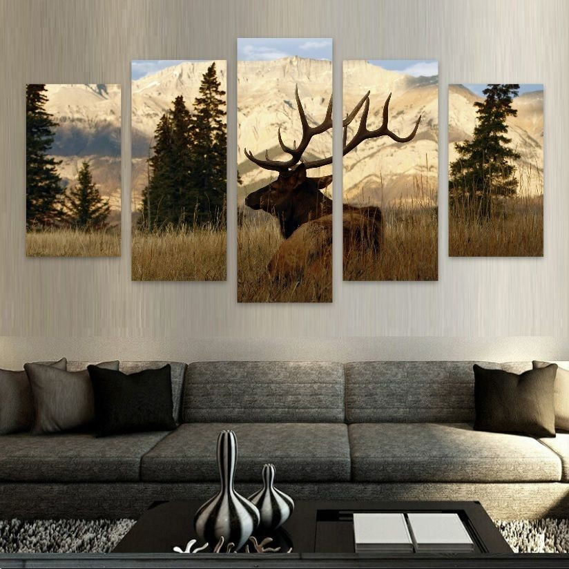 Best ideas about Nature Wall Art . Save or Pin Framed Elk Mountains Wildlife Nature Canvas Print Now.