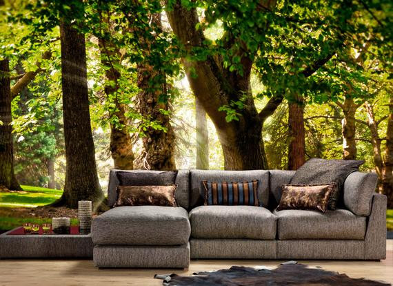 Best ideas about Nature Wall Art . Save or Pin Sunbeam through Trees Nature Wall mural Wallpaper Wall Now.