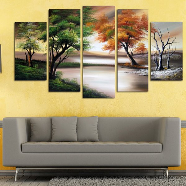 Best ideas about Nature Wall Art . Save or Pin Shop Changing Seasons Gallery wrapped Hand Oil Now.