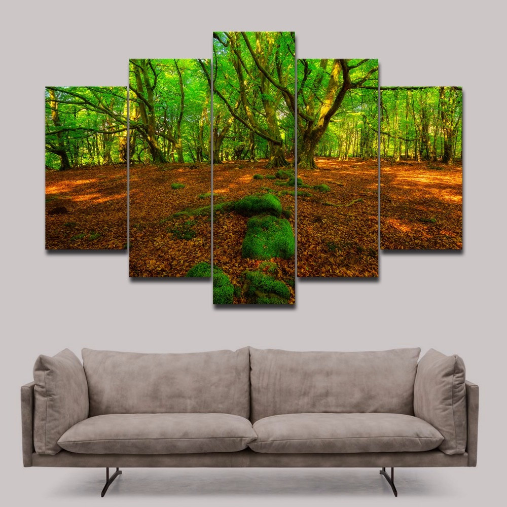 Best ideas about Nature Wall Art . Save or Pin Unframed Green Forest photo print on canvas Modern wall Now.