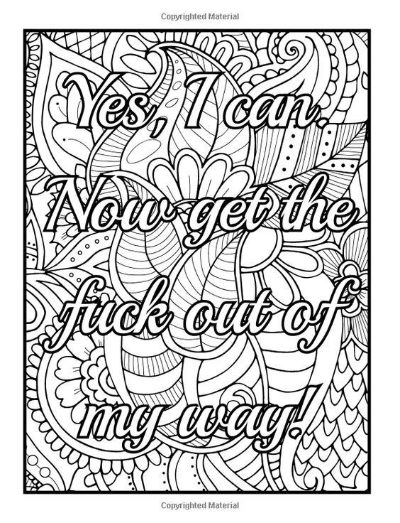 Naughty Adult Coloring Books  420 best Swear color pages images on Pinterest