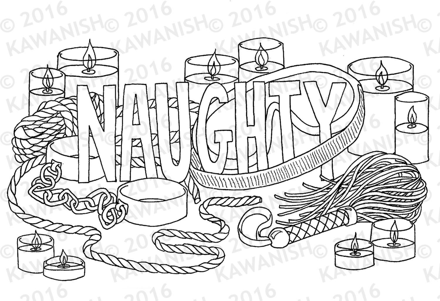 Naughty Adult Coloring Books  naughty kinky BDSM adult coloring page wall art