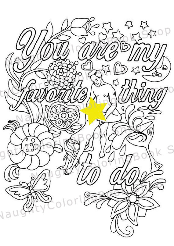 Naughty Adult Coloring Books  Funny Valentine Gift Naughty Valentine y Valentine