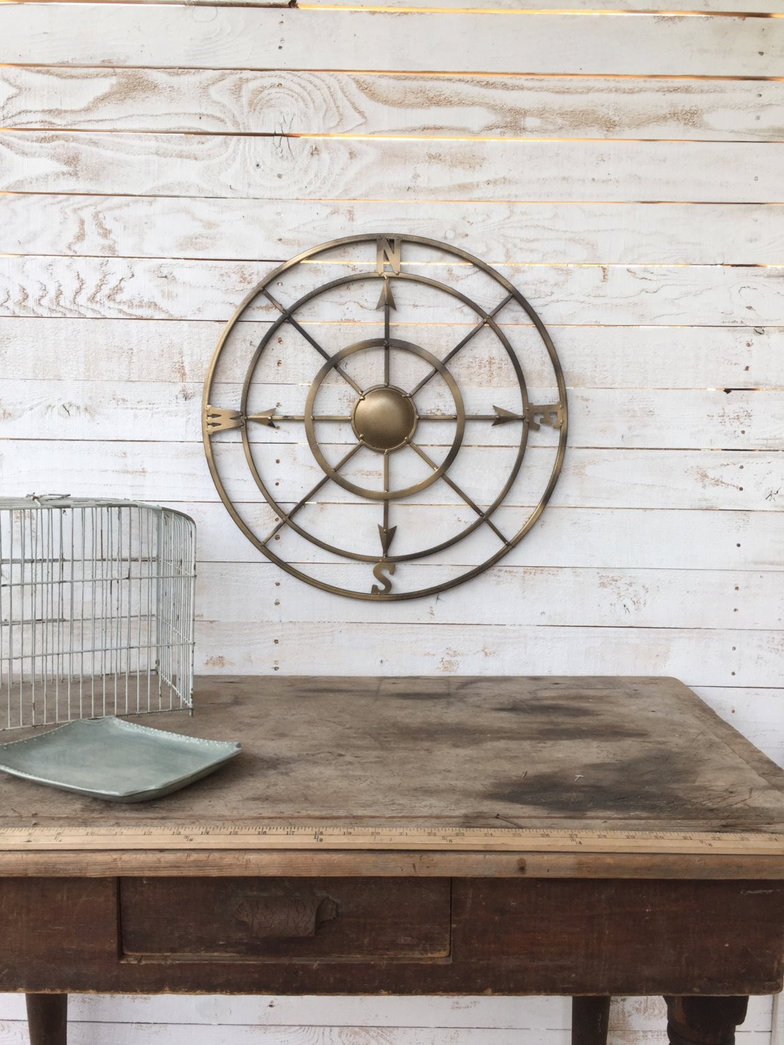 Best ideas about Nautical Wall Art . Save or Pin Nautical Wall Decor Metal pass Wall Art by CamillaCotton Now.