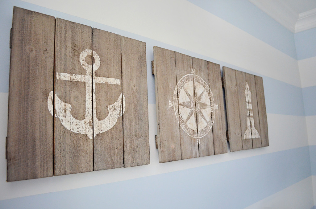 Best ideas about Nautical Wall Art . Save or Pin Maverick s Nautical Nursery Project Nursery Now.