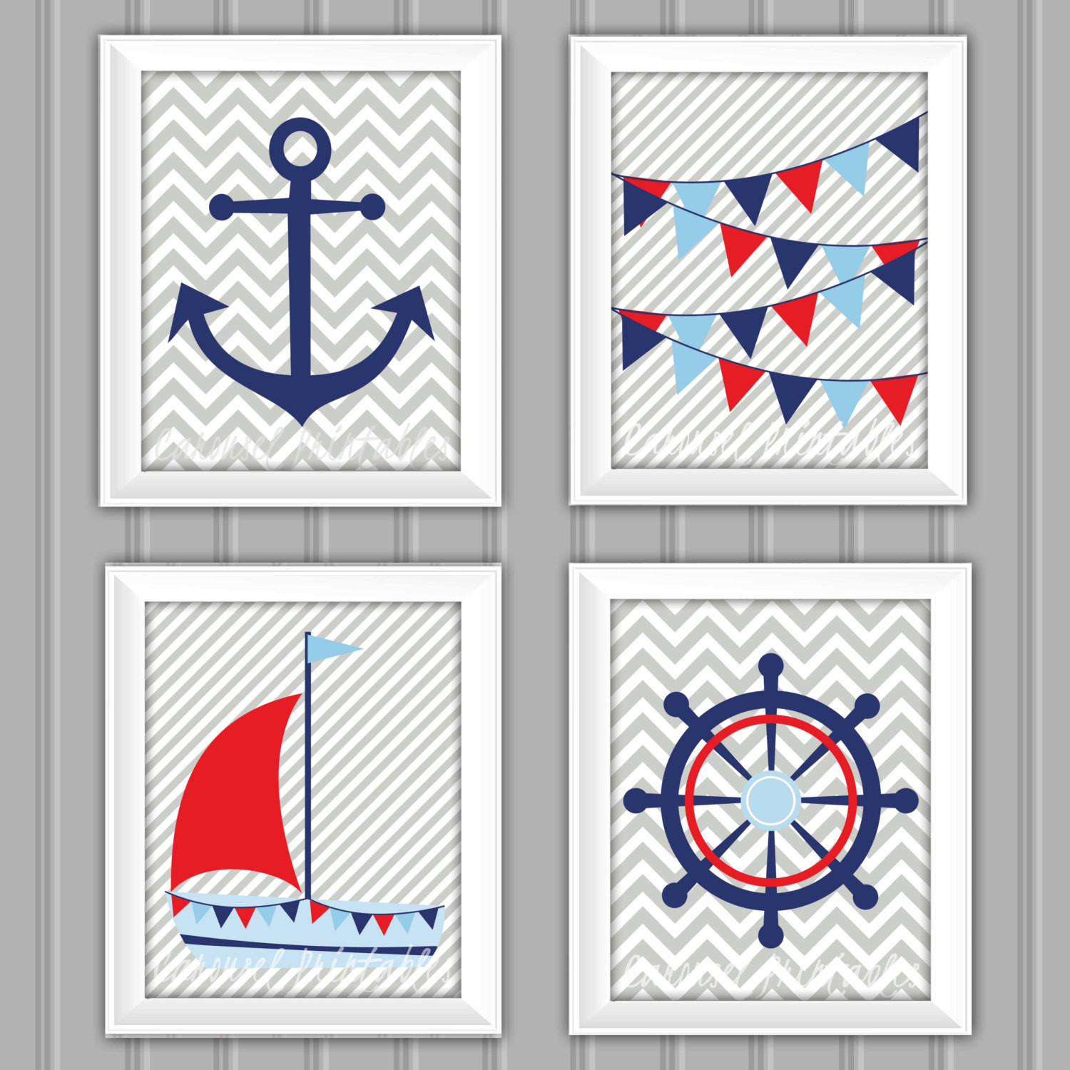 Best ideas about Nautical Wall Art . Save or Pin Nautical Wall Art Set Nautical Decor Instant Download Now.
