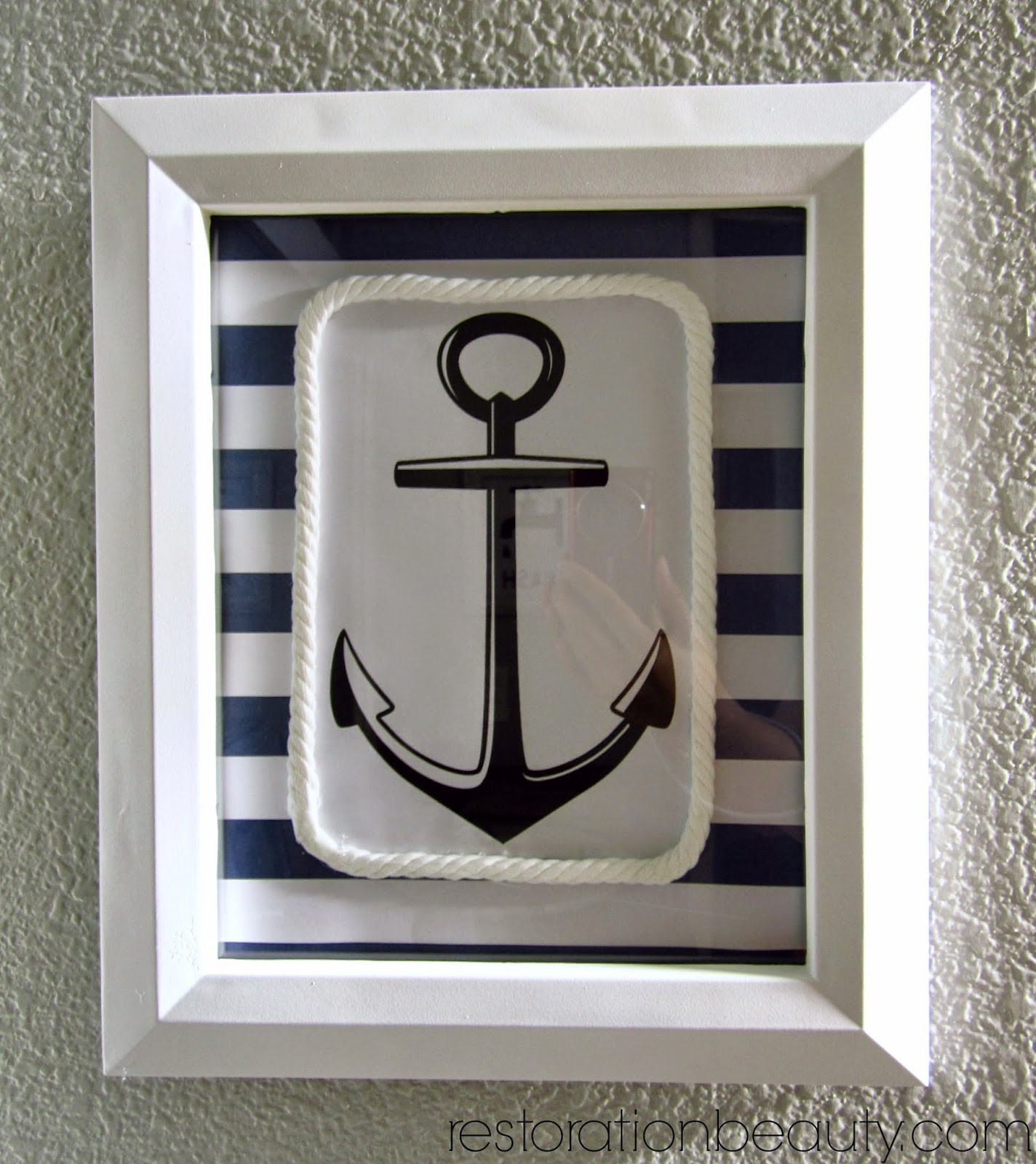 Best ideas about Nautical Wall Art . Save or Pin Restoration Beauty DIY Nautical Wall Art Now.