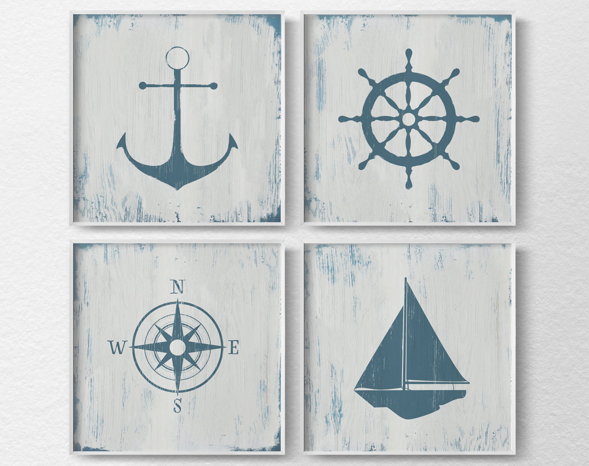 Best ideas about Nautical Wall Art . Save or Pin Nautical Decor Nautical Nursery Nautical Wall Art Rustic Now.