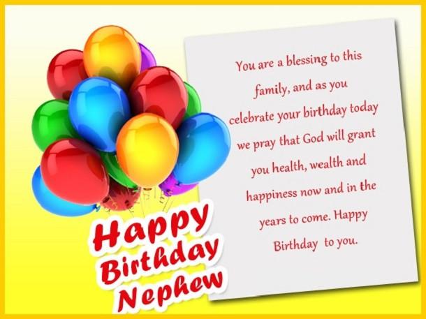 Nephew Birthday Wishes  160 Birthday Wishes For Nephew Happy birthday nephew