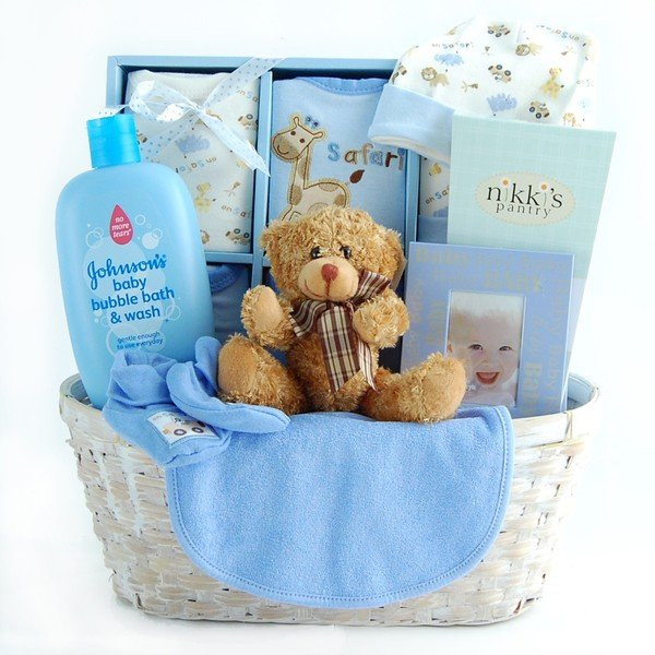 Best ideas about Newborn Baby Boy Gift Ideas . Save or Pin Shop New Arrival Baby Boy Gift Basket Free Shipping Now.