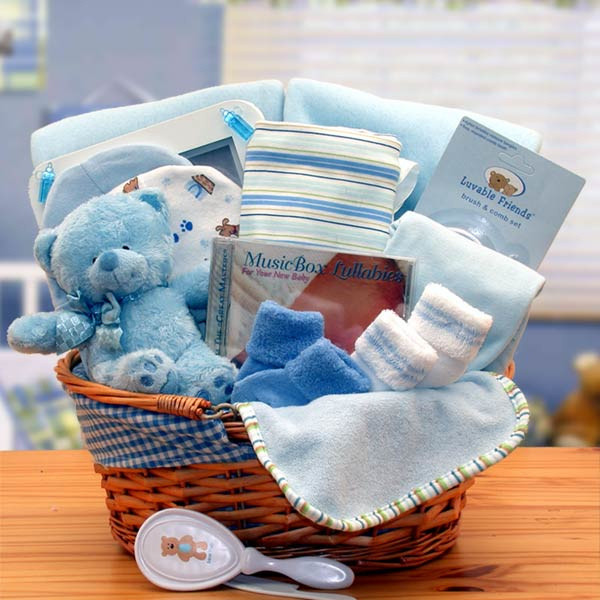 Best ideas about Newborn Baby Boy Gift Ideas . Save or Pin Simply Baby Basics Gift Basket Now.