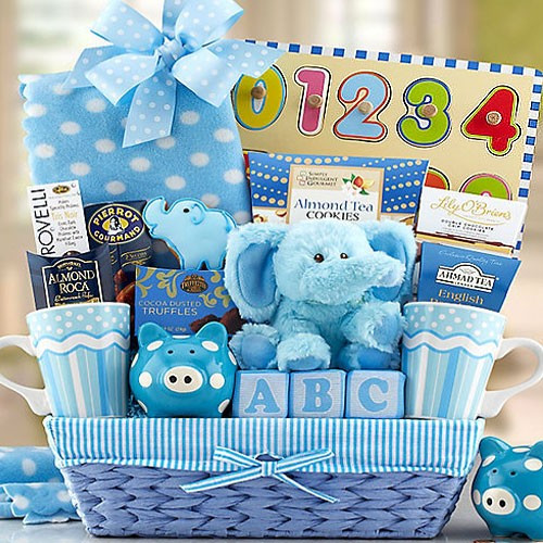 Best ideas about Newborn Baby Boy Gift Ideas . Save or Pin New Baby Boy Basket Now.