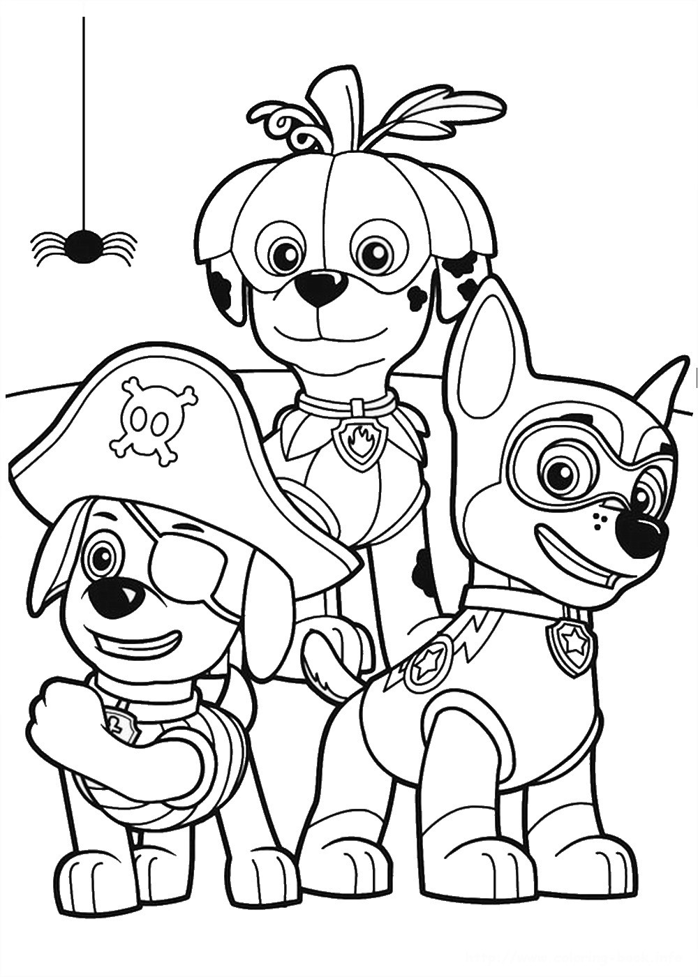 Nickelodeon Coloring Pages  Free Nick Jr Paw Patrol Coloring Pages