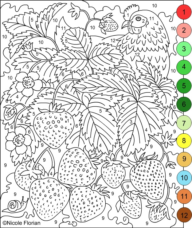 Nicole'S Free Coloring Pages  Free Coloring Pages Color By Number Adult Printable