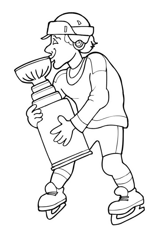 Nicole'S Free Coloring Pages  Hockey player coloring pages to and print for free