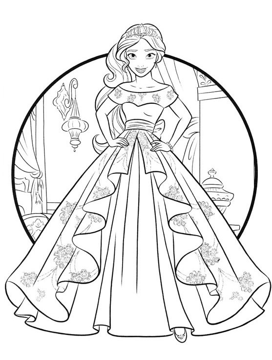 Nicole'S Free Coloring Pages  Elena of Avalor coloring pages to and print for free