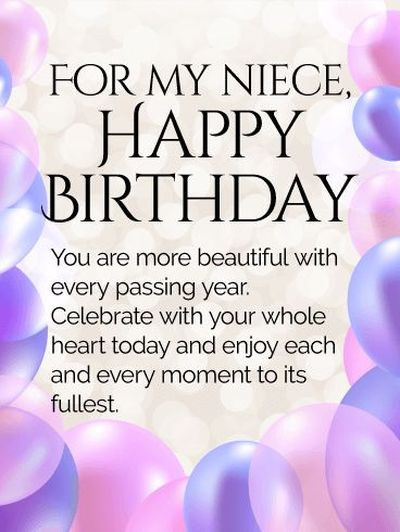 Best ideas about Niece Birthday Wishes . Save or Pin 110 Happy Birthday Niece Quotes and Wishes with Now.