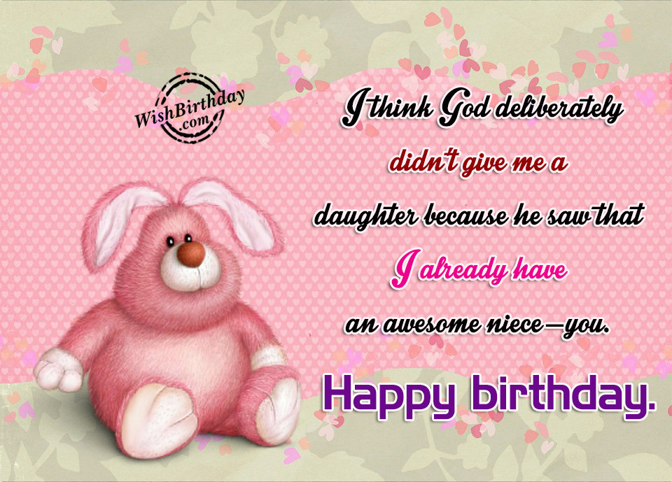 Best ideas about Niece Birthday Wishes . Save or Pin Birthday Wishes For Niece Birthday Now.