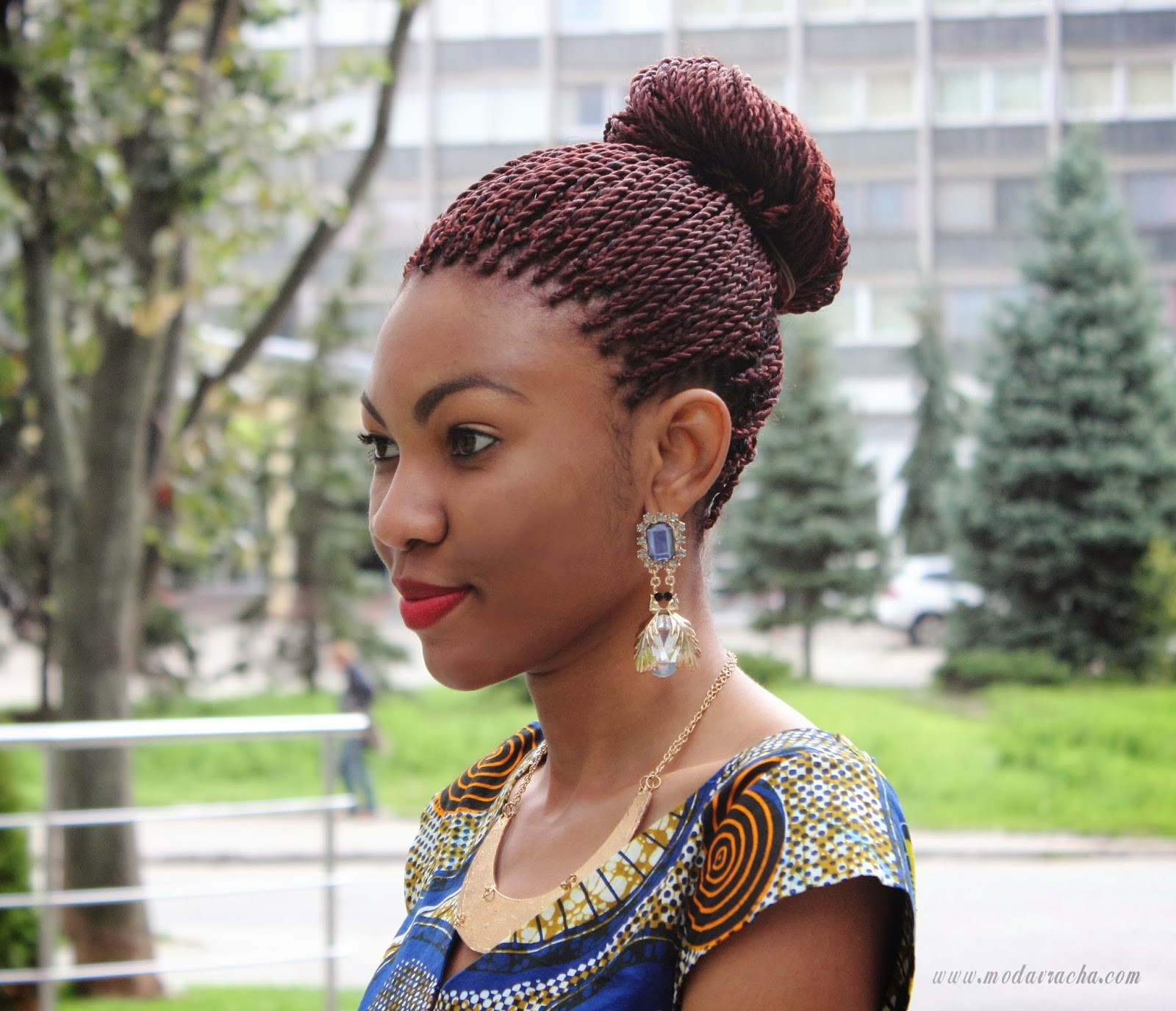 Best ideas about Nigerian Braid Hairstyles . Save or Pin Long ankara dress with front slit Modern African Dress Now.