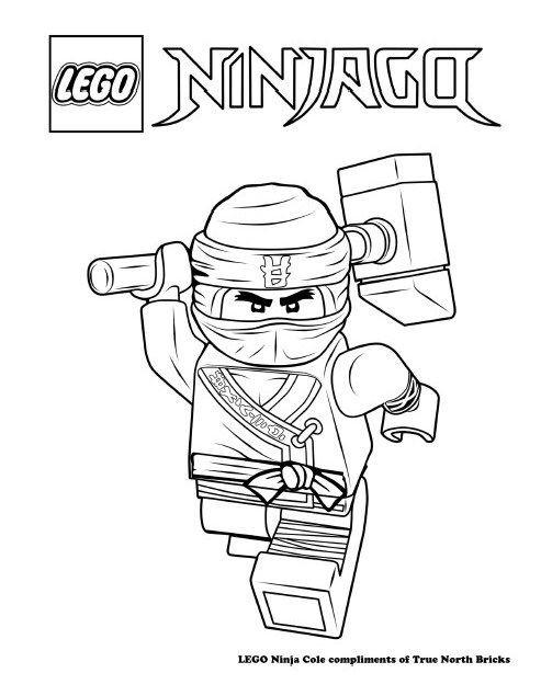 Ninjago Movie Coloring Pages  Coloring Page – Ninja Cole Basile Pinterest