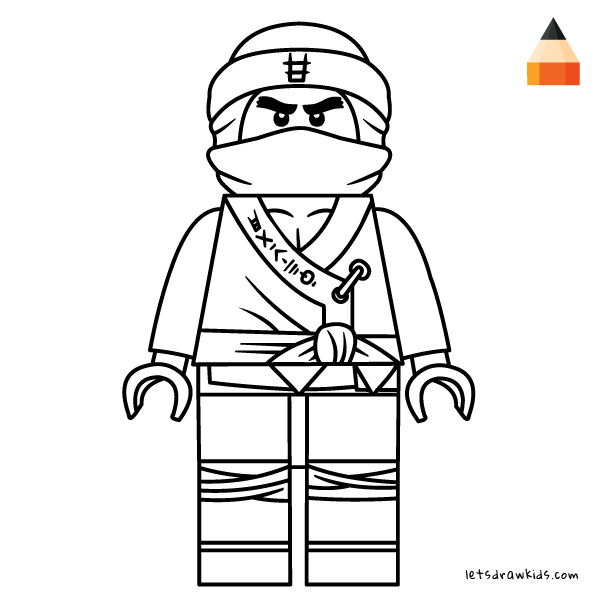 Ninjago Movie Coloring Pages  How to Draw Lego Cole Step By Step from The LEGO NINJAGO Movie
