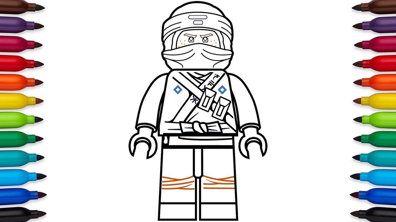 Ninjago Movie Coloring Pages  How to draw Lego Ninjago Jay Walker from the Lego Ninjago