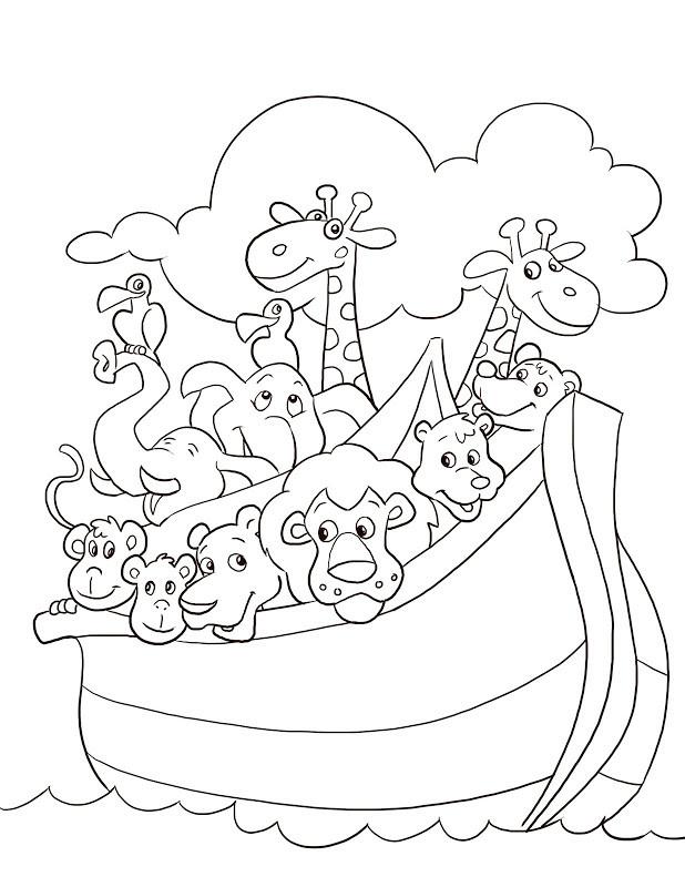 Noah Coloring Pages  Coloring Pages Noah s Ark