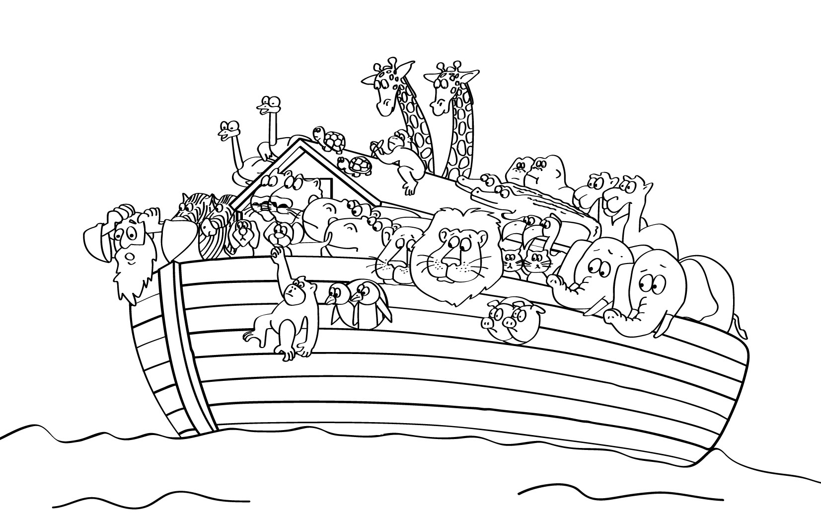 Noah Coloring Pages  Free Printable Sunday School Coloring Pages