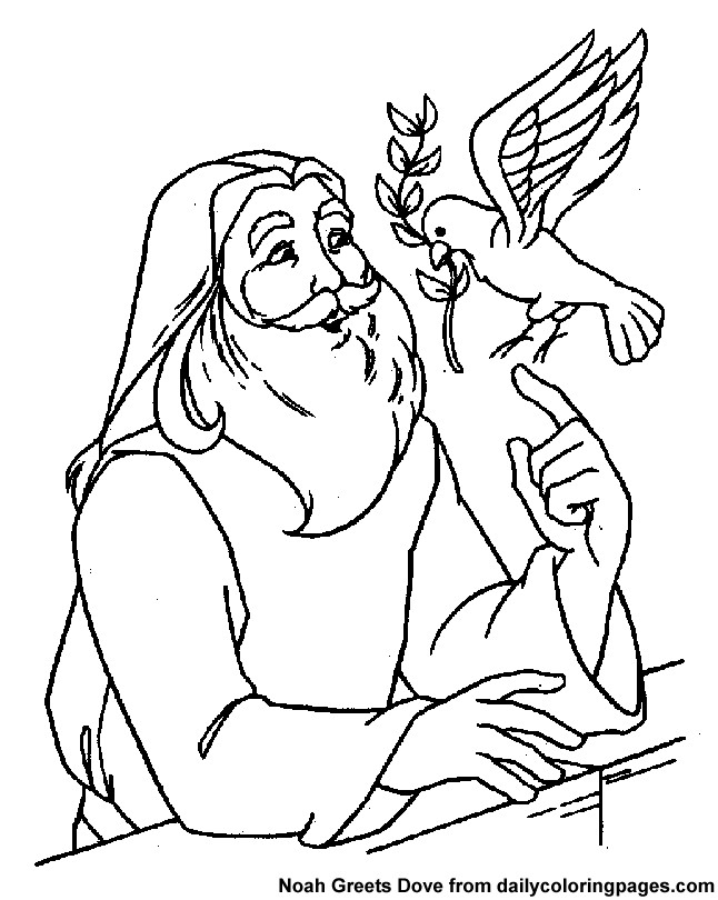 Noah Coloring Pages  Noah Coloring Page AZ Coloring Pages