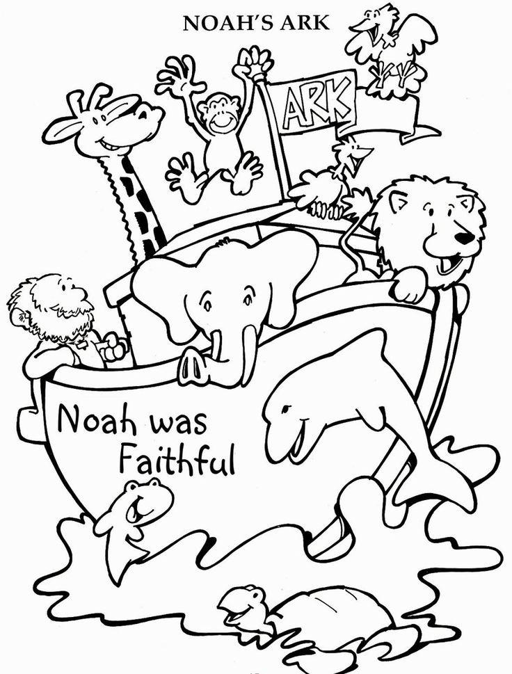 Noah Coloring Pages  Best 25 Noahs ark craft ideas on Pinterest