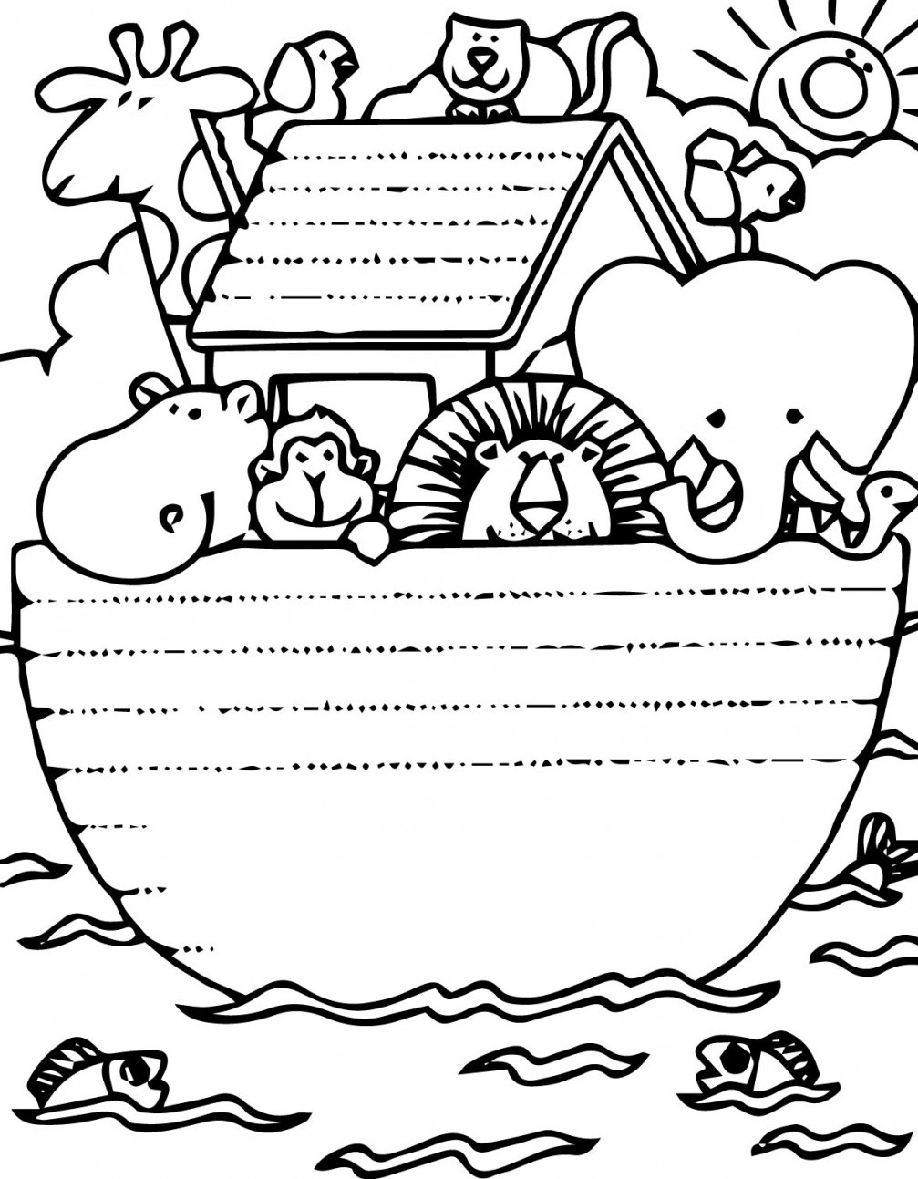 Collection Noah039s Ark Coloring Pages Printable