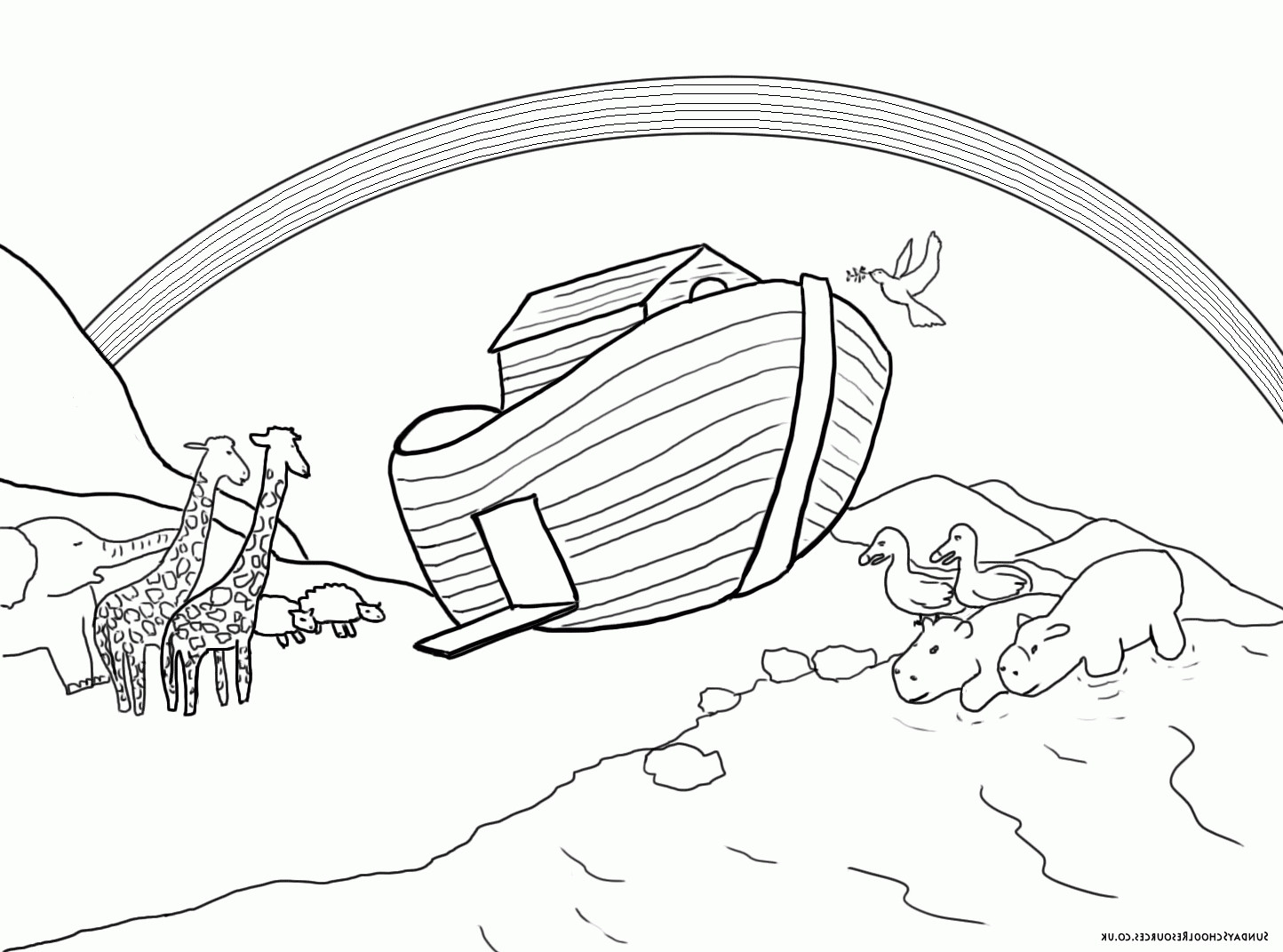 Best ideas about Noah'S Ark Free Coloring Pages . Save or Pin Noah s Ark Coloring Page NAXK Obsession Noahs Ark Coloring Now.