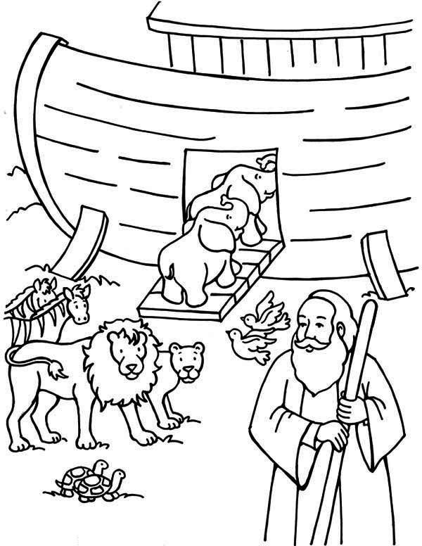 Best ideas about Noah'S Ark Free Coloring Pages . Save or Pin 41 Noah Coloring Pages Letter N Is For Noah Coloring Page Now.