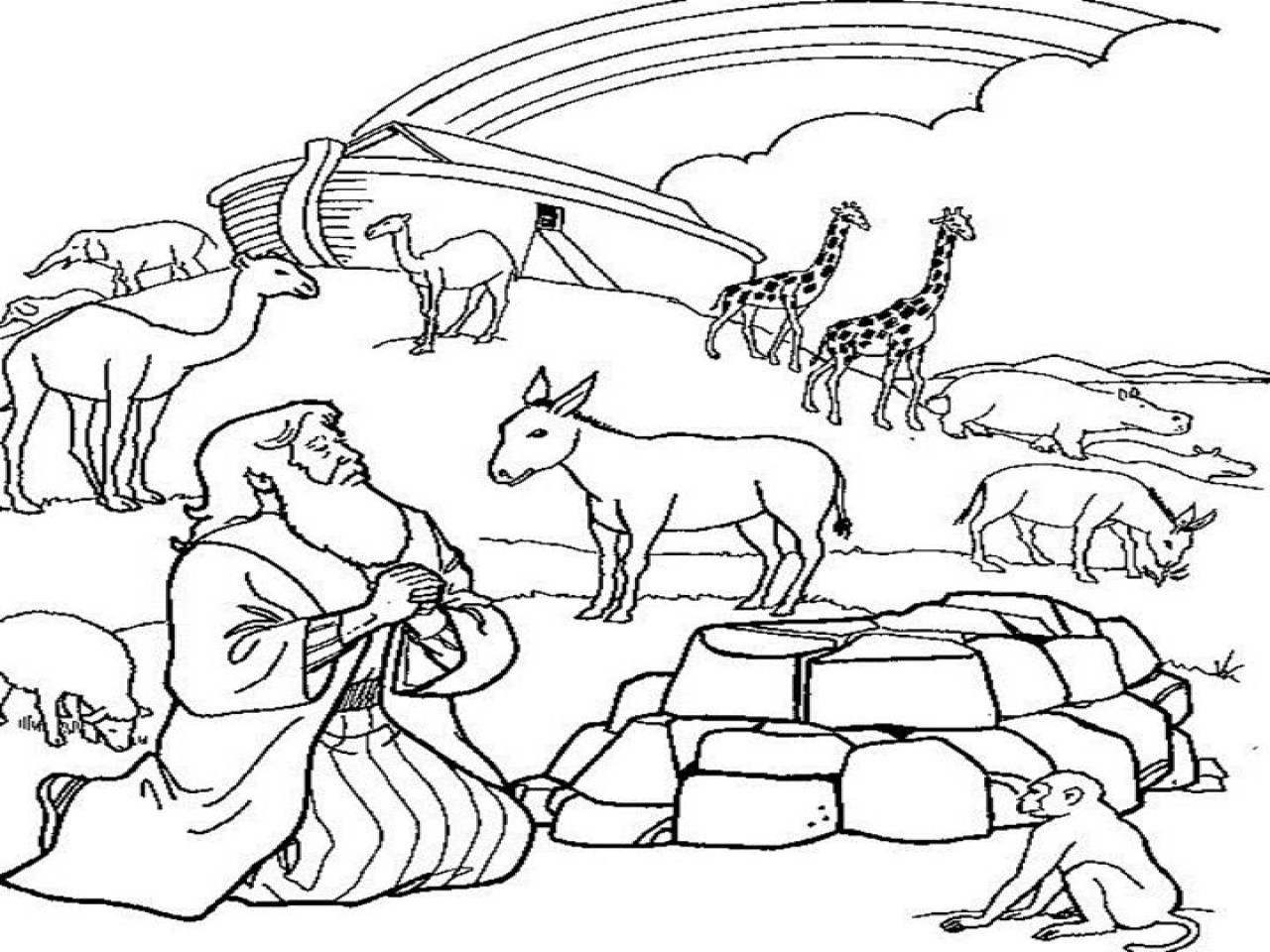 Best ideas about Noah'S Ark Free Coloring Pages . Save or Pin 60 Noah Ark Coloring Page Noah Rainbow Colouring Pages Now.